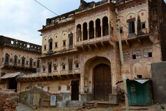Old haveli. Mandawa. Rajasthan. India. Mandawa is a town in the Rajasthan state of India. It is part of Shekhawati region Royalty Free Stock Photo