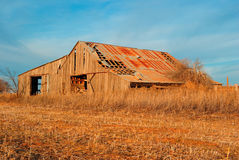 Old Hay Barn. Old barn in southwest Oklahoma Stock Photo