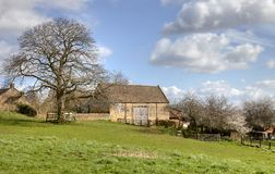Old hay barn at Bourton-on-the-Hill Royalty Free Stock Image