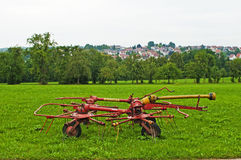 Old hay turning machine Royalty Free Stock Photos