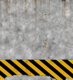 Old hazard sign on wall  Stock Photography