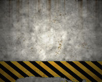 Old hazard wall warning sign Royalty Free Stock Image