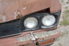 Old headlight car Stock Photo