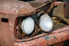 Old headlight car Royalty Free Stock Photography