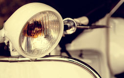 Old headlight of scooter Royalty Free Stock Photo