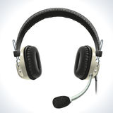 Old Headphones With Microphone Stock Photography