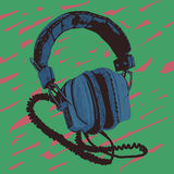 Old headphones Royalty Free Stock Images