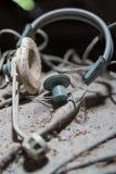 Old headphones Stock Photo