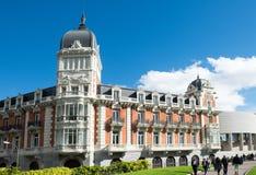 The old headquarter of Real Compania Asturiana de Minas Stock Photos