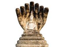 Old 7 heads naga Buddha. The Old 7 heads naga Buddha Stock Image