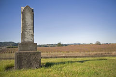 Old headstone 1800's Royalty Free Stock Photo