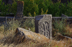 The old headstone in  Armenia Royalty Free Stock Photo