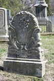 Old ornate grave marker royalty free stock photography