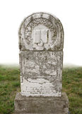 Old headstone isolated Stock Photo