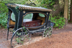 Old hearse . Stock Photo