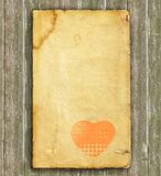 Old heart paper - background Stock Photo