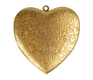 Old Heart-shaped Decoration Stock Photo