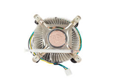 Old heat-sink of cpu on white background Stock Photos