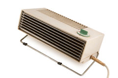 Old heater isolated on white Stock Photo