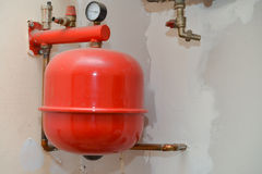 Old heating installation Royalty Free Stock Photos
