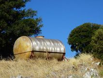 Old Heating Oil Tank Royalty Free Stock Photo