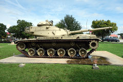 An old, heavy-duty tank on display Stock Photography