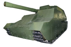 Old heavy self-propelled gun Stock Images