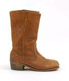 Old heeled leather boots Stock Images
