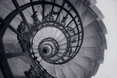 Old helical staircase Royalty Free Stock Photos
