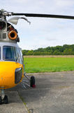 Old helicopter Stock Photo