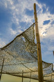 Old hemp fishing net Royalty Free Stock Photo