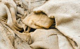 Old hemp sack grunge, Selective focus Stock Photos