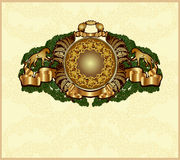 Old heraldic background gold Stock Image