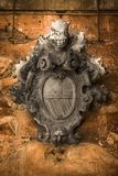 Old heraldic emblem. With angels Kotor Montenegro Royalty Free Stock Images