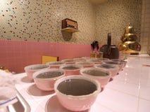 Old herbal tea shop. Models of old herbal tea shop in Hong Kong Heritage Museum stock photos