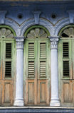 Old heritage windows, Penang Stock Images