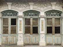 Old heritage windows, Penang, Malaysia Royalty Free Stock Photography