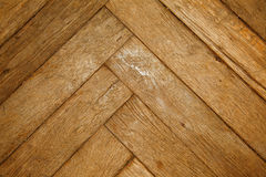 Old herringbone parquet Royalty Free Stock Image