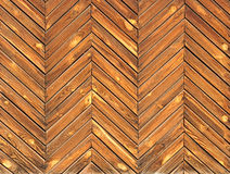 Old herringbone parquet Stock Photography