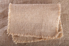 Old hessian cloth background Royalty Free Stock Photo