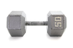 Old, Hex Shapped Dumbbell Royalty Free Stock Images