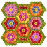 Old hexagonal pattern Stock Photos