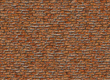 Old hi-res red small brick wall pattern Stock Images