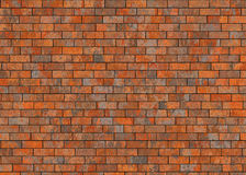 Old hi-res red small brick wall pattern Stock Photos