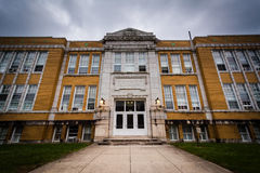 An old high school building in Hanover, Pennsylvania. Stock Images