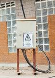 Old High voltage cabinet Stock Photos