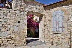 Old highland Lefkara village in Republic of Cyprus royalty free stock photo