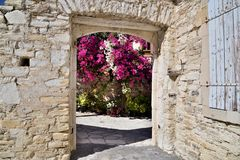 Old highland Lefkara village in Republic of Cyprus stock photography