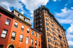 Old highrises in Baltimore, Maryland. Old highrises in Baltimore, Maryland royalty free stock image