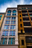 Old highrises in downtown Philadelphia, Pennsylvania. Royalty Free Stock Photos